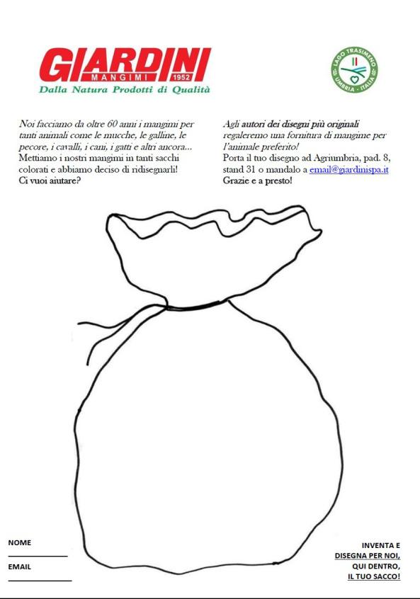 disegna i sacchi mangime Giardini spa