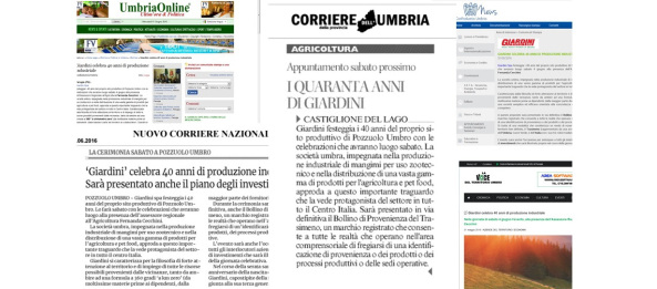 Giardini spa anniversario 40 anni di sito produttivo a Pozzuolo