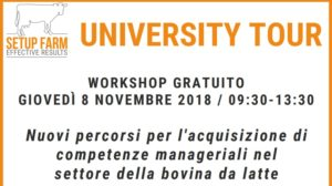 Giardini s.p.a. sponsor di University tour Setup Farm a Perugia